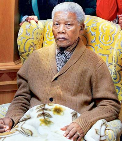 Nelson Mandela serious but stable