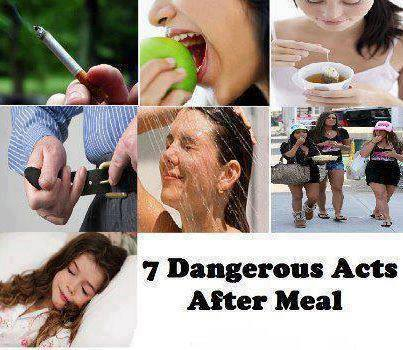 Act after meal